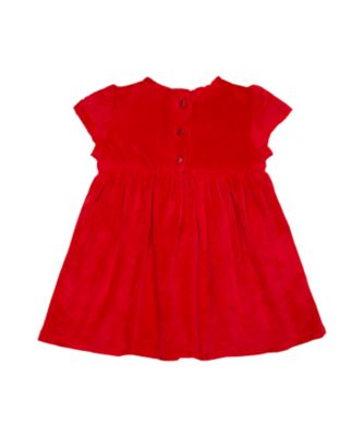 red rose smock dress