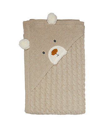knitted bear shawl
