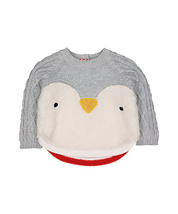 penguin knitted jumper