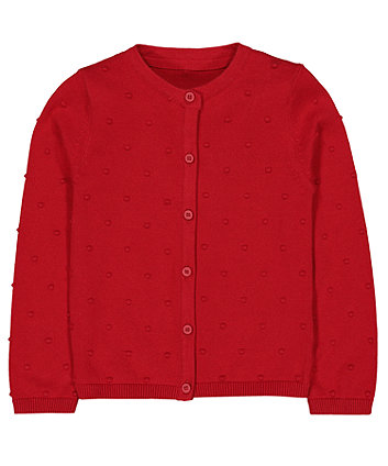 red spot cardigan