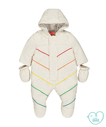 little bird rainbow snowsuit