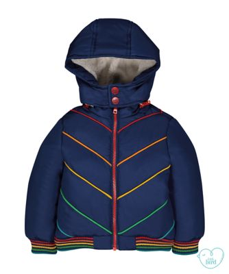 little bird padded rainbow jacket