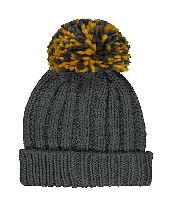 charcoal knit beanie hat
