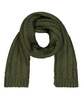 khaki knitted scarf