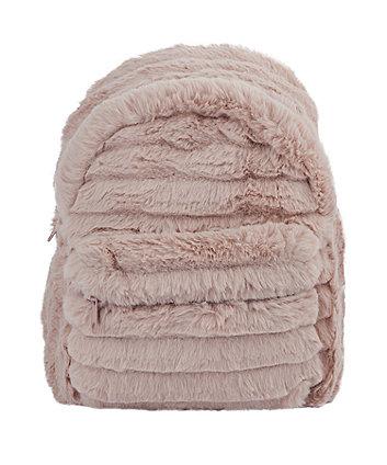 pink faux fur rucksack
