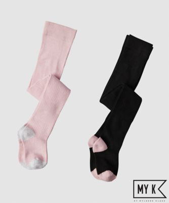 my k black and pink tights - 2 pack