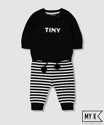 my k tiny knit and leggings set