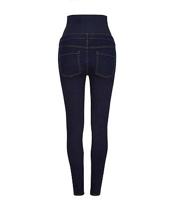 dark indigo over-the-bump skinny maternity jeans