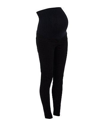 black twill maternity jeans