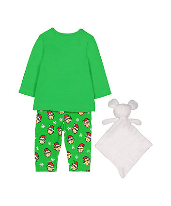 that's not my elf pyjamas and mouse comforter toy