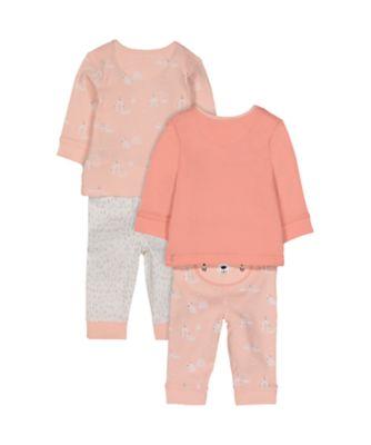 pink polar bear pyjamas - 2 pack
