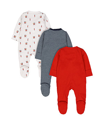 little soldier sleepsuits - 3 pack