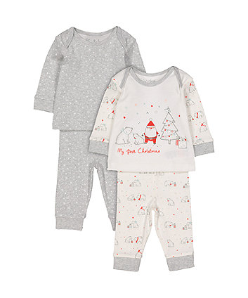 baf83c94a58c my first christmas pyjamas - 2 pack