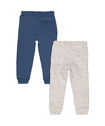oatmeal and blue joggers - 2 pack