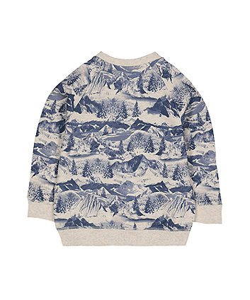 into the woods mountain sweat top