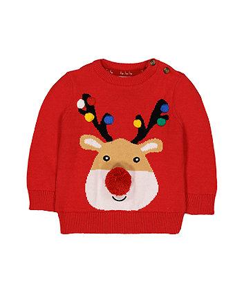 festive reindeer jumper