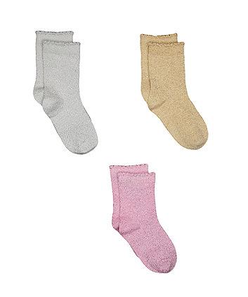 glitter socks - 3 pack