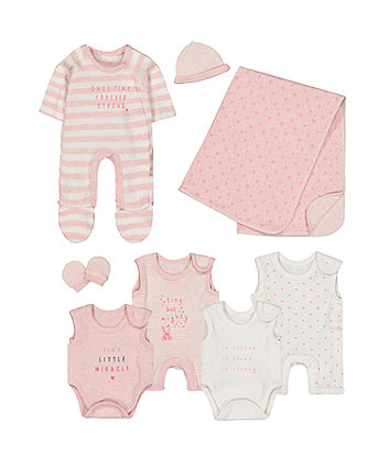 pink premature baby eight-piece set