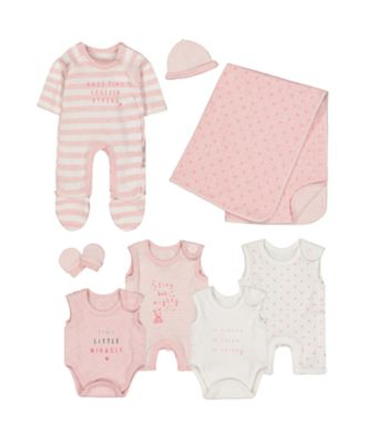 pink premature baby eight-piece set