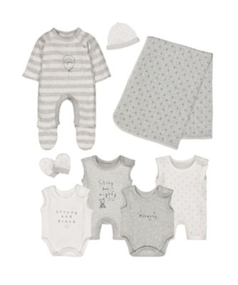 grey premature baby eight-piece set