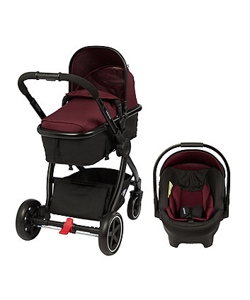 mothercare journey 4-wheel black travel system - fig