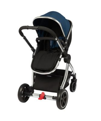 mothercare journey 4-wheel chrome travel system - petrol blue