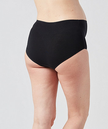 black and nude over the bump maternity briefs - 2 pack