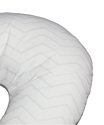 mothercare grey chevron jersey feeding pillow