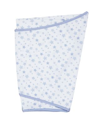 mothercare essential cotton swaddling blanket - blue
