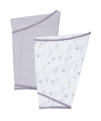 mothercare essential cotton grey swaddling blankets - 2 pack