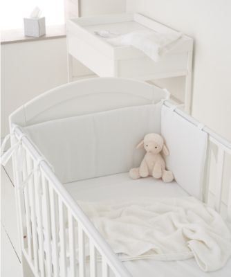 mothercare white waffle bumper