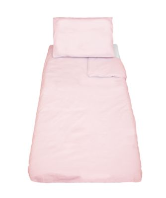 mothercare cotton-rich cot bed duvet and pillowcase set - pink