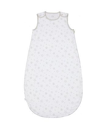 mothercare cotton-rich grey star 2.5 tog sleep bag