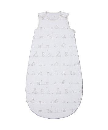my first grey 2.5 tog sleep bag (6-18 months)