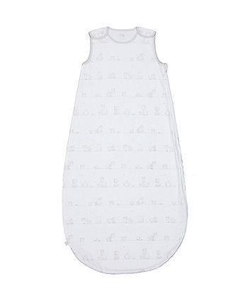 my first grey 1 tog sleep bag (0-6 months)