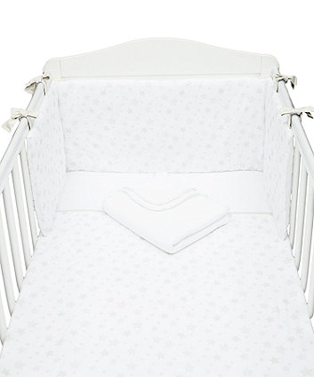 mothercare cotton-rich grey star bed in a bag