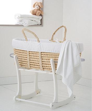 mothercare white waffle moses basket