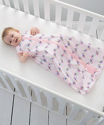 The Gro Company rosie posie travel grobag sleeping bag 0.5 tog