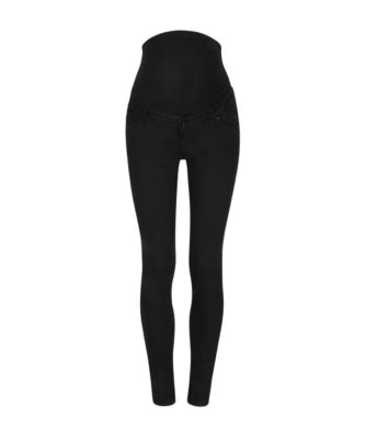 black skinny over the bump maternity jeans