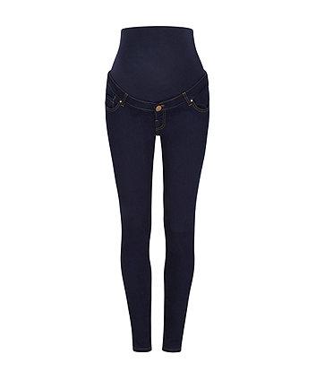 dark indigo skinny over the bump maternity jeans