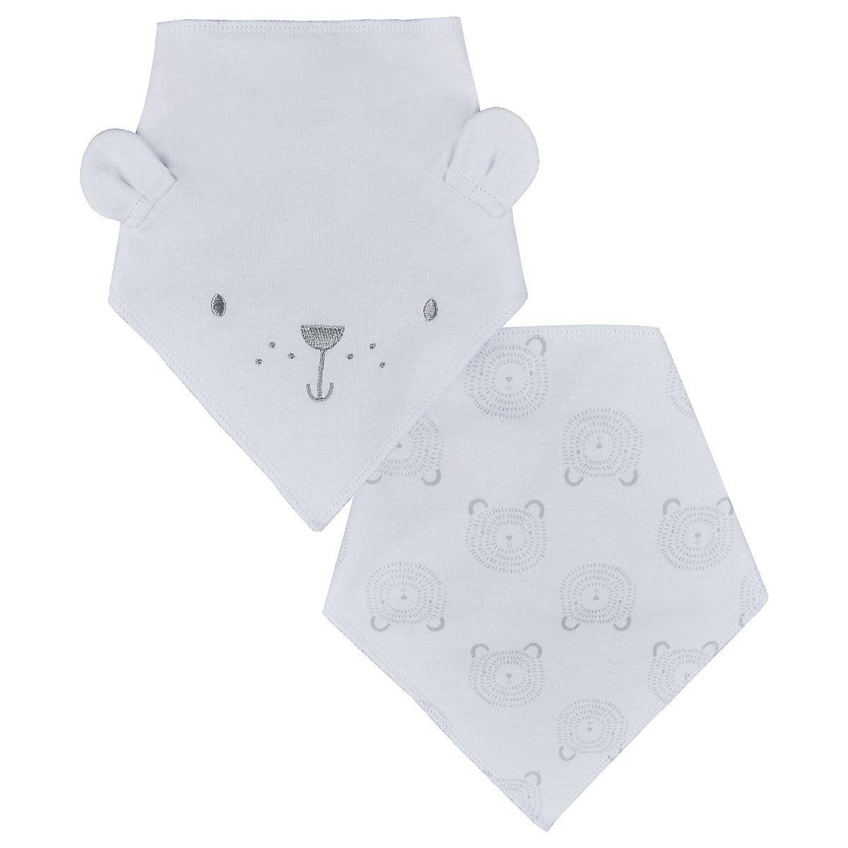 3D bear dribbler bibs - 2 pack