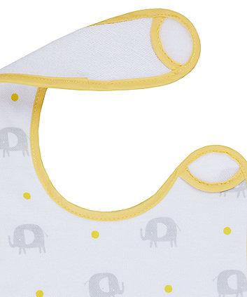 mothercare elephant newborn bibs - 2 pack