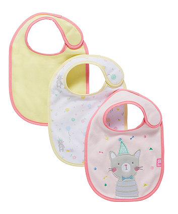 confetti party bibs - 3 pack
