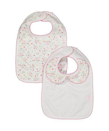 floral newborn bibs - 2 pack