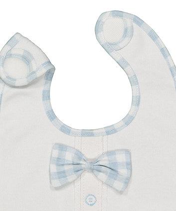 bow tie newborn bibs - 2 pack