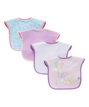 confetti party bibs - 4 pack