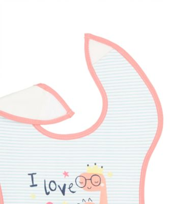 mummy and daddy weaning bibs - pink