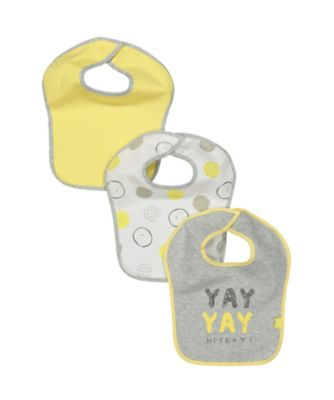 mothercare slogan bibs - 3 pack
