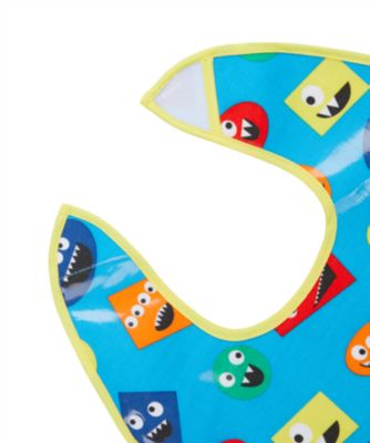 mothercare monster oil cloth bibs - 3 pack