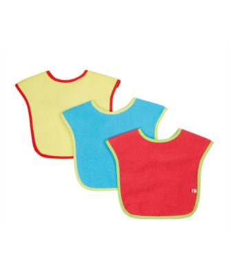 mothercare towelling bibs - 3 pack